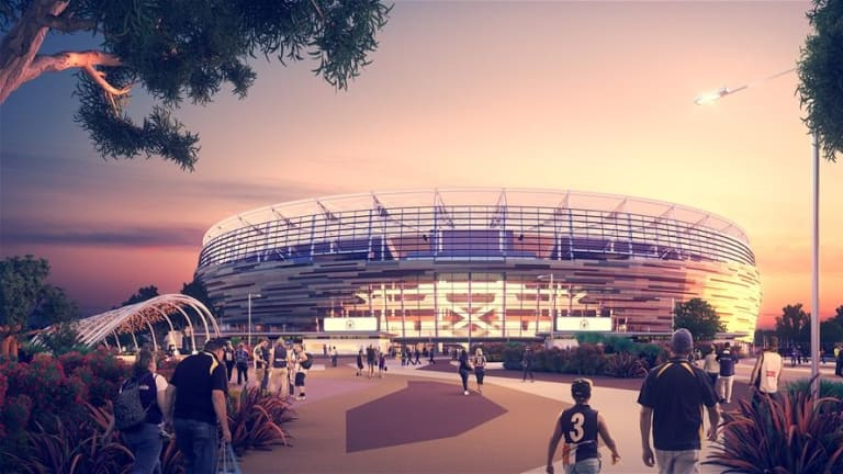West Coast will open the new Perth Stadium in 2018 but Fremantle will play more home games there.
