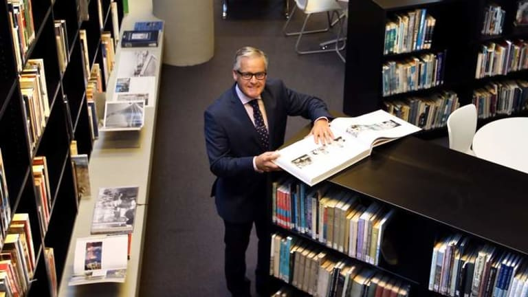 Michael Davies, principal of Trinity Grammar, in the school's new library. Trinity was second on the list of big spenders in 2012.