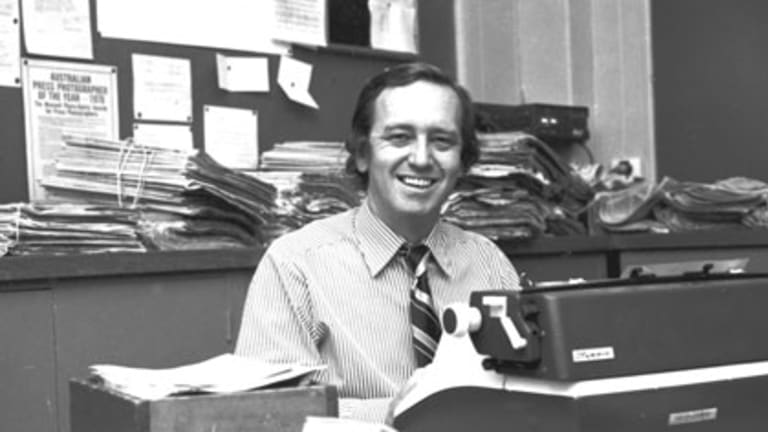 A passion for rugby league,  Mahler, Hunter Valley shiraz and the Anglican church ...  Errol Hodge at his desk in 1976.