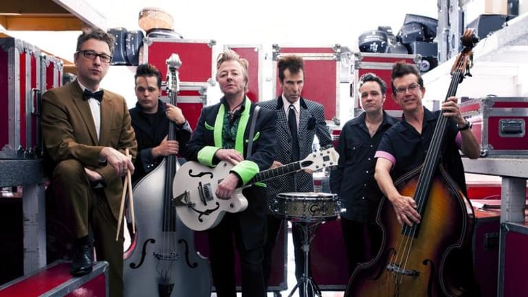 Brian Setzer (with Rockabilly Riot) plays ''a music that was never even popular in the '50s''.
