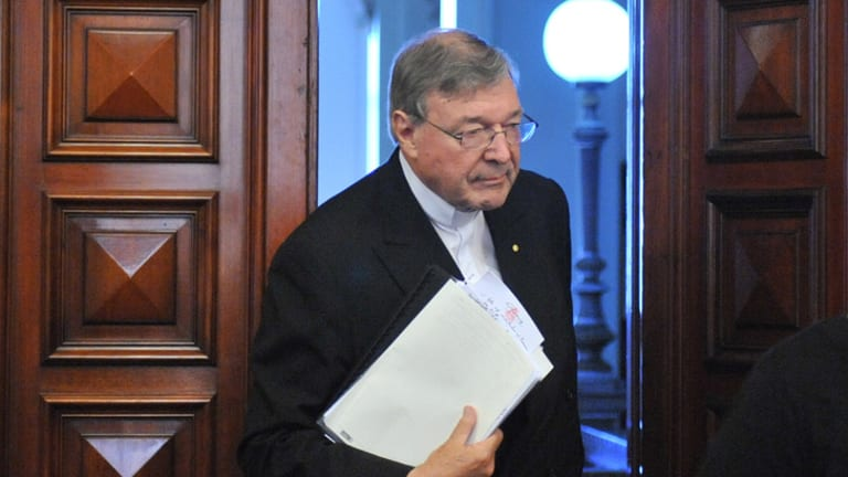Cardinal George Pell at the Victorian inquiry into child abuse.