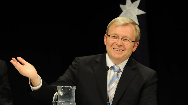 Media man: Kevin Rudd  was ruled by the 24-hour media cycle, said the man he defeated for the Labor leadership Kim Beazley.