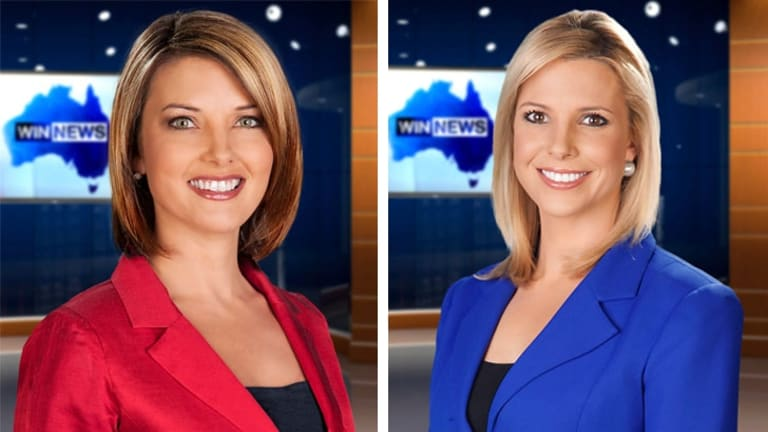 Uncertain future: WIN Canberra news readers Amy Duggan and Kerryn Johnston.