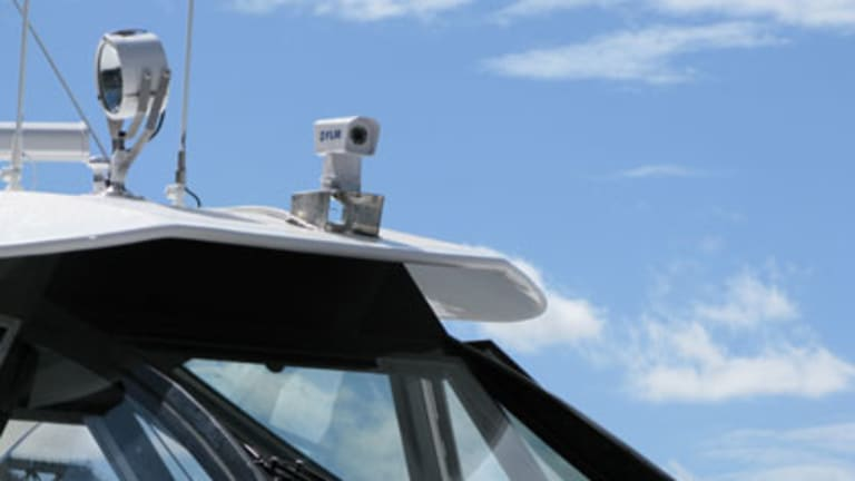 One of the new infrared cameras mounted on a CityCat.
