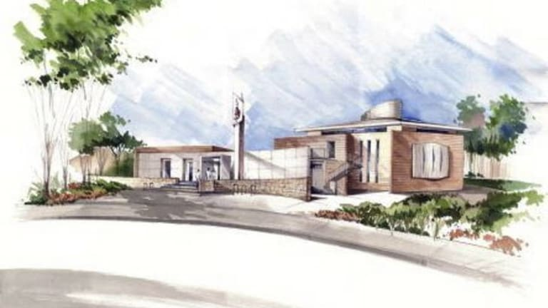 Artist impression of the Gungahlin Mosque.