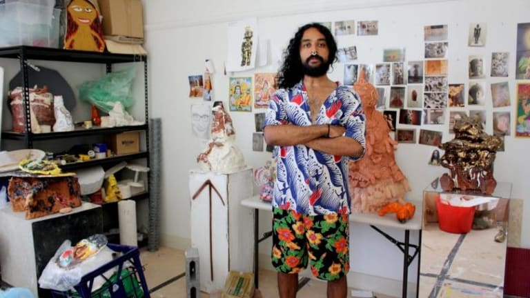 Ramesh Mario Nithiyendran's irreverent work has won a coveted award for ceramic artists.