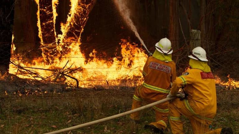 Hot topic: a surge of bushfires across NSW has sparked a debate on climate change.