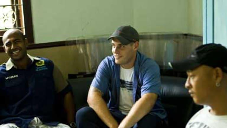 Myuran Sukumaran, Matthew Norman and Andrew Chan speak  about life in Bali's Kerobokan Jail. PHOTO: Jason Childs