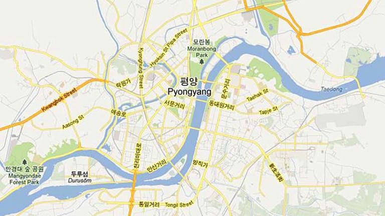 Details ... the North Korean capital of Pyongyang on Google Maps.