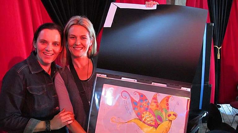 Katrina McKelvey and Kirrili Lonergan at the Sydney Writer's Festival.