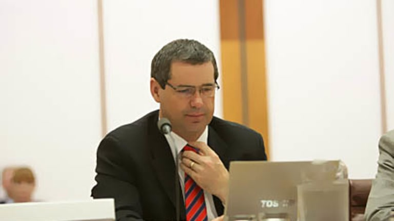 Communications Minister Senator Stephen Conroy in Senate Estimates this week.
