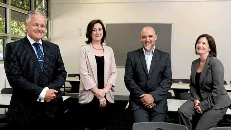 Principals Michael Davies, Francine Walsh, Daniel Gooding and Johanna Walker.