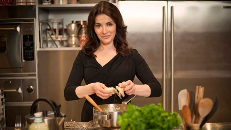 Nigella Lawson cake recipe, or packet-and-egg ensemble.