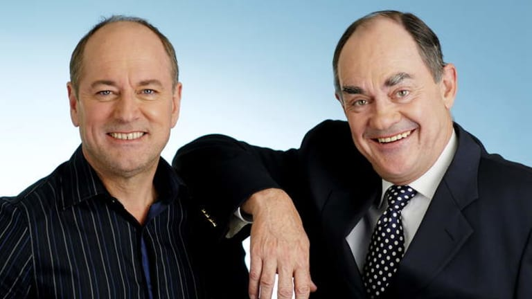 Ross Stevenson (left) and John Burns say there is plenty left in the tank as far as their on-air future is concerned.