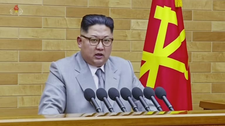 In his annual New Year's Day address, North Korean leader Kim Jong Un said he has the nuclear button on his desk.