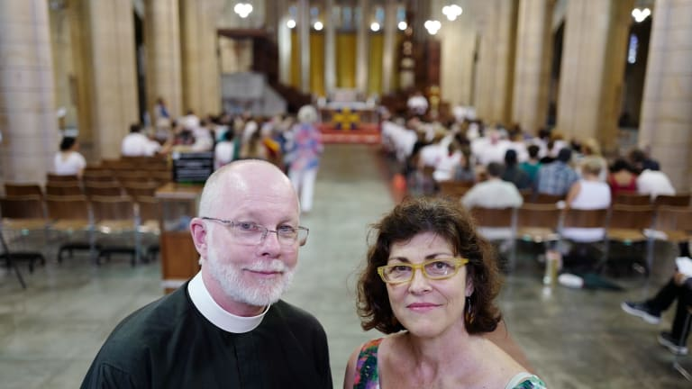 Dr Peter Catt and lawyer Sonia Caton
