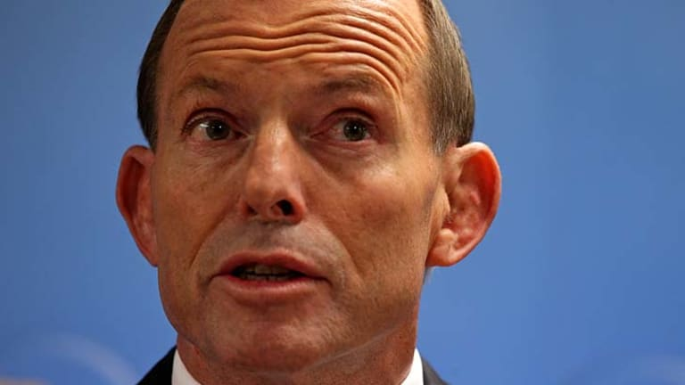 Opposition Leader Tony Abbott in Sydney for the release of the Coalition's workplace relations policy.