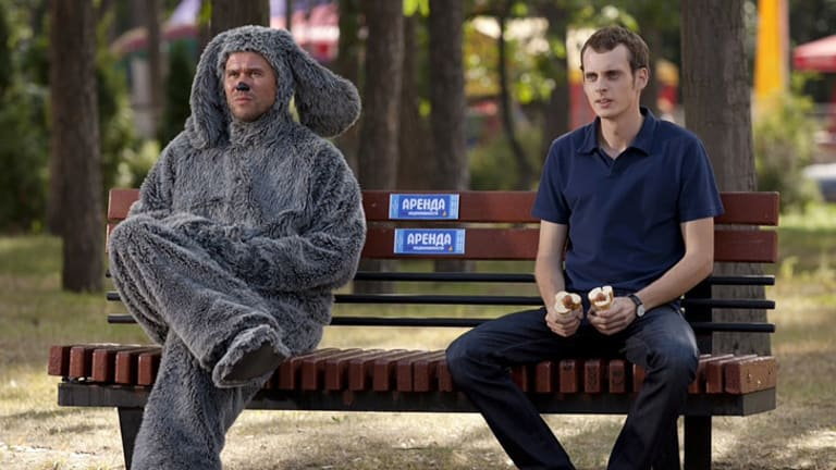 A still from the Russian series <i>Charlie</i>, which is based on <i>Wilfred</i>.