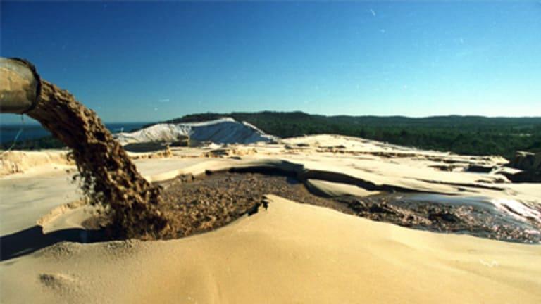 The Bayside sand mine on North Stradbroke Island.