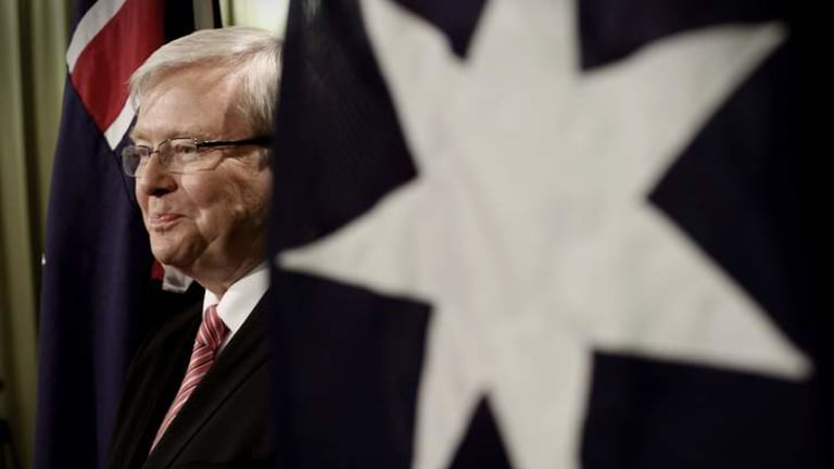 """Support: The Economist has backed Kevin Rudd as Australia's best choice for next weekend's poll, """"largely because of Labor's decent record""""."""