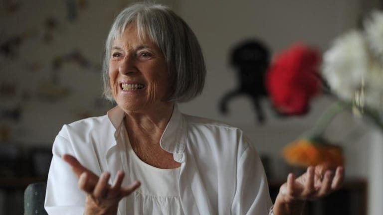 Former National Gallery of Australia director Betty Churcher, at home in Wamboin in 2012.
