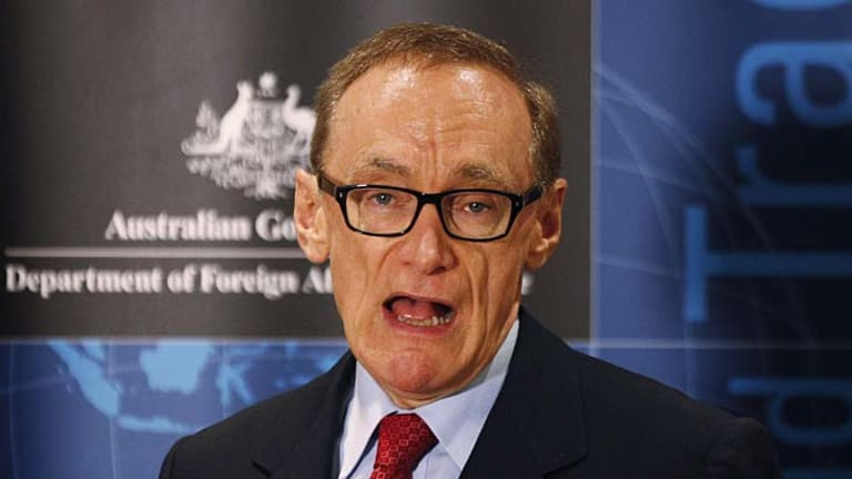 """""""We warn them that South Korea, which has shown admirable restraint, is not likely to ignore continuous threats, let alone any future attacks"""": Australian Foreign Minister Bob Carr."""