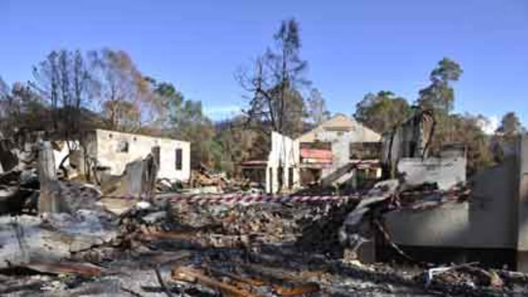 Police have confirmed the fire that devastated Marysville in Victoria was deliberately lit.
