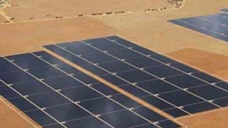 Artist's impression of AGL's solar plant when complete.