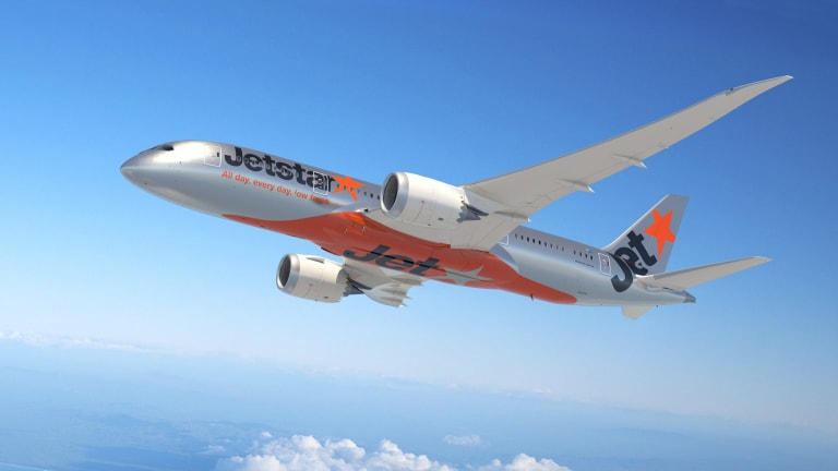 Five passengers travelling together on the Jetstar flight became 'extremely disruptive'.
