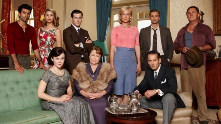 Pay TV to save popular shows: The cast of Channel Seven's 'A Place to Call Home'.