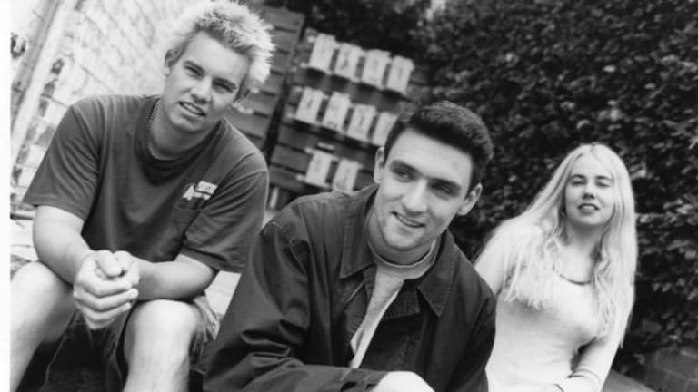 Early days: The band in March 1998 (from left) Clint Hyndman, Paul Dempsey and Stephanie Ashworth.