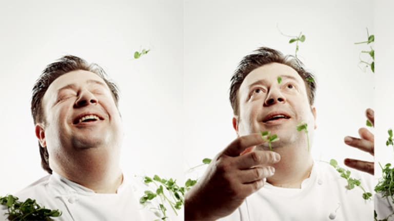 """Peter Gilmore . .  """"This is my kitchen and I decide how things are going to taste and look, how we are going to cook them. I want a purity of vision."""""""