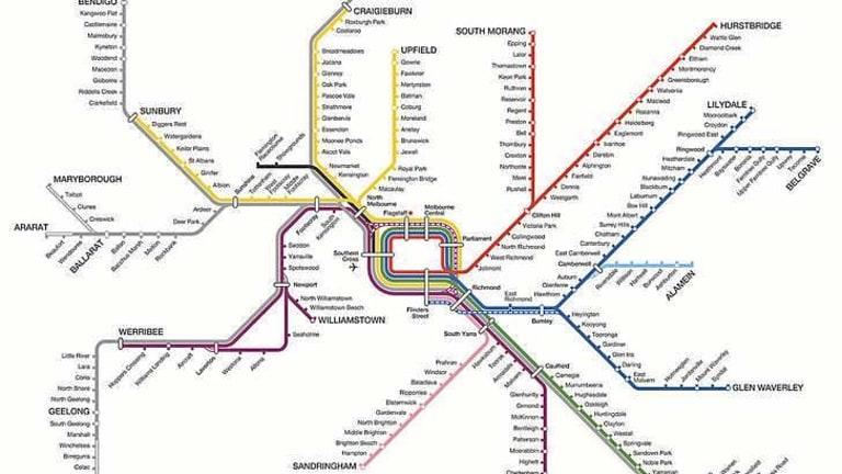 Rail map gets a rainbow update