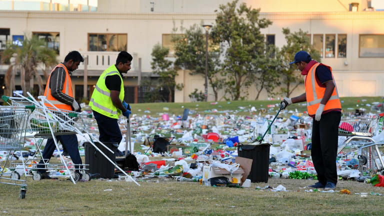 City of Port Phillip staff begin a clean-up the council estimates will cost thousands.