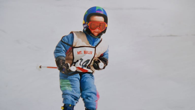 Dinham showed promise on the slopes from a young age.