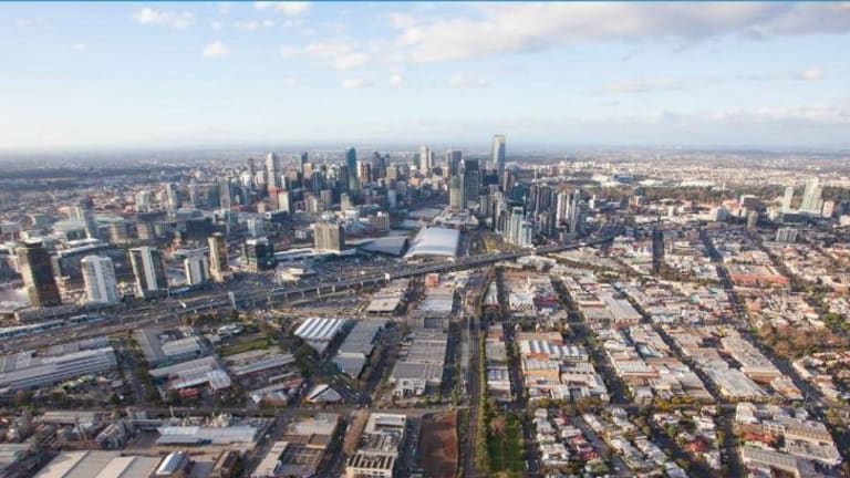 Blue collar location: The light industrial and warehouses of Fishermans Bend.