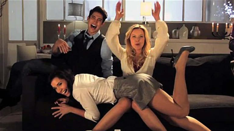 Spanking fun ... a grab from the trailer promoting the We Dare game