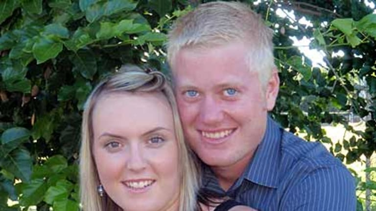 Jacob Moerland with his fiancee Kezia Muccahy.