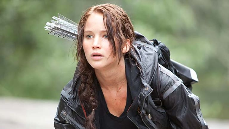 Jennifer Lawrence in <em>The Hunger Games</em>.