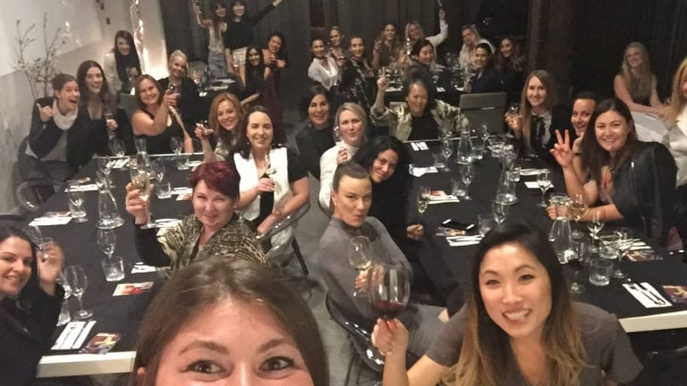 Jane Lu and Gen George at a Like Minded Bitches Drinking Wine event.
