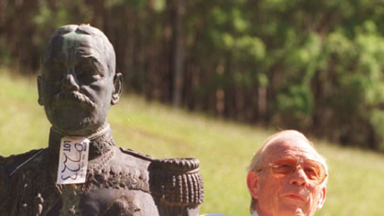 At Yarramalong with a bronze bust of Prince Albert.