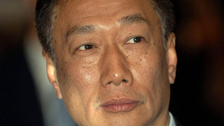 Terry Guo, founder of the Foxconn, arrived in his private jet.
