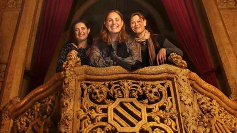 Filmmakers Nicole Minchin, Amanda Jane and Christine Bartlett.