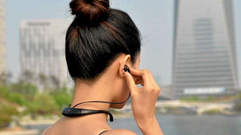 iriver ON, an in-ear wearable computing device.