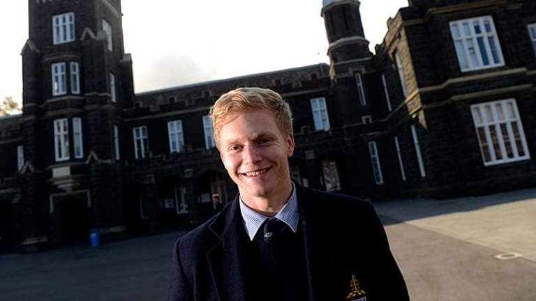 Indigenous heritage: Nathan Drummond, a student at Melbourne Grammar School.
