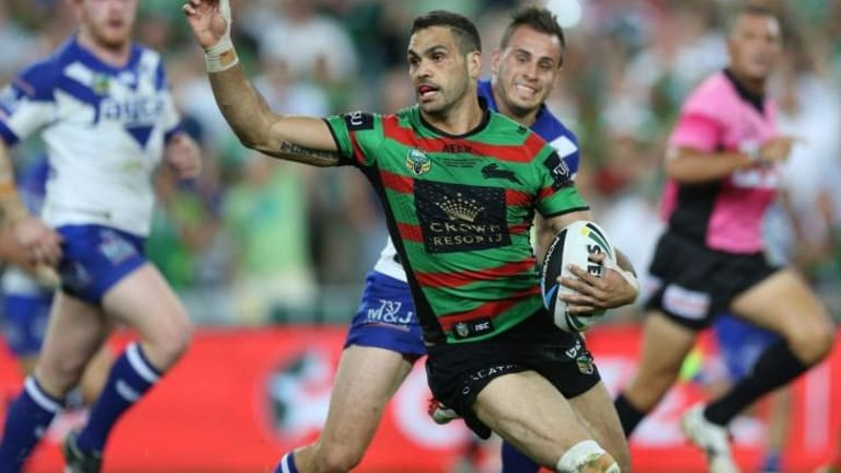 Keeping them guessing: Greg Inglis changes direction.