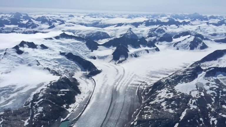 The view over Greenland.