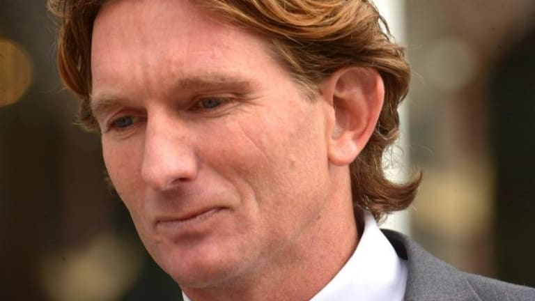 James Hird's future under threat.
