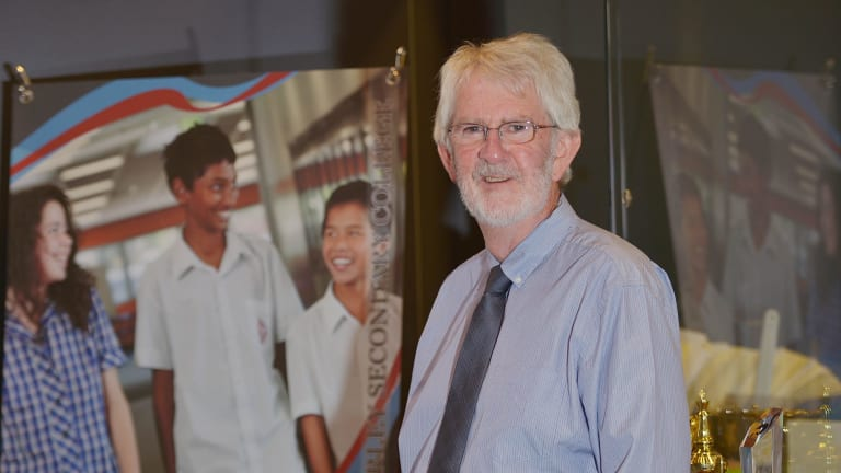 Pride: Gerard Schiller, principal of Glen Waverley Secondary College.