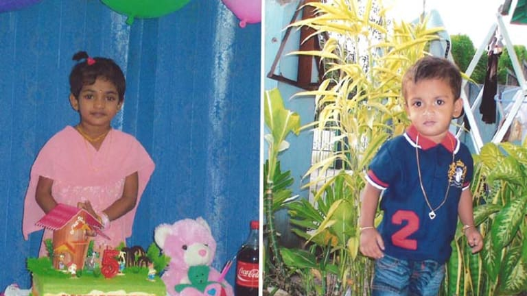 Endless detention ... the mother of Atputha, 7, and Abinayan Rahavan, 4, is considered a security risk by ASIO.